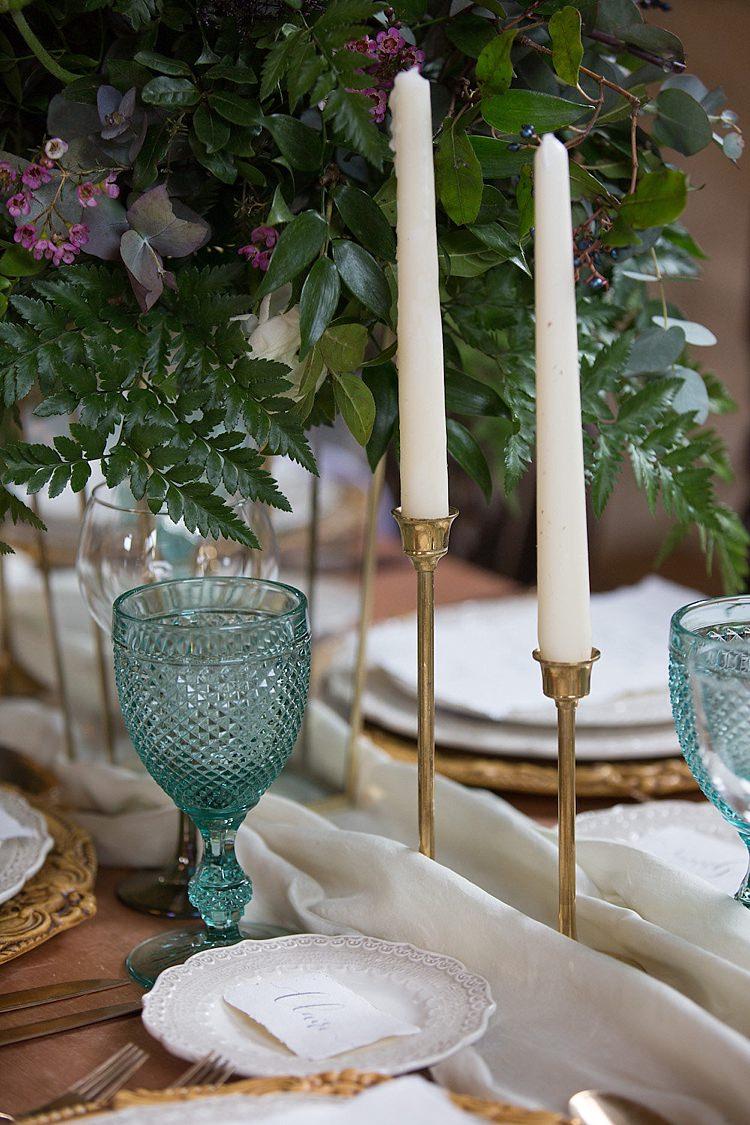 Candlesticks Decor Chic Secret Garden Wedding Ideas http://marysmithphotography.com/