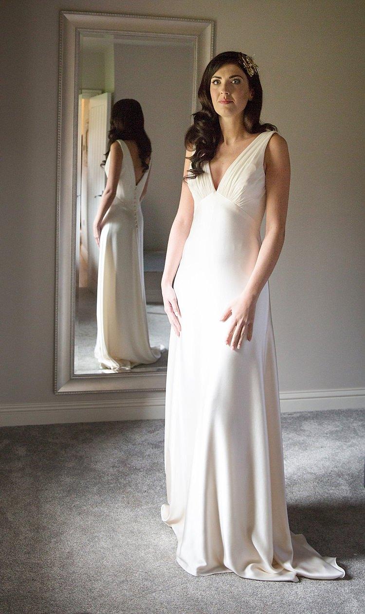 Ellie Lowe Dress Gown Bride Bridal Silk Chic Secret Garden Wedding Ideas http://marysmithphotography.com/
