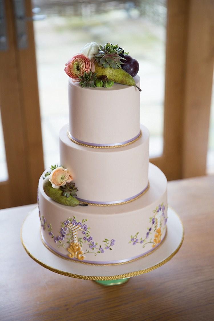 Iced Cake Floral Flowers Chic Secret Garden Wedding Ideas http://marysmithphotography.com/