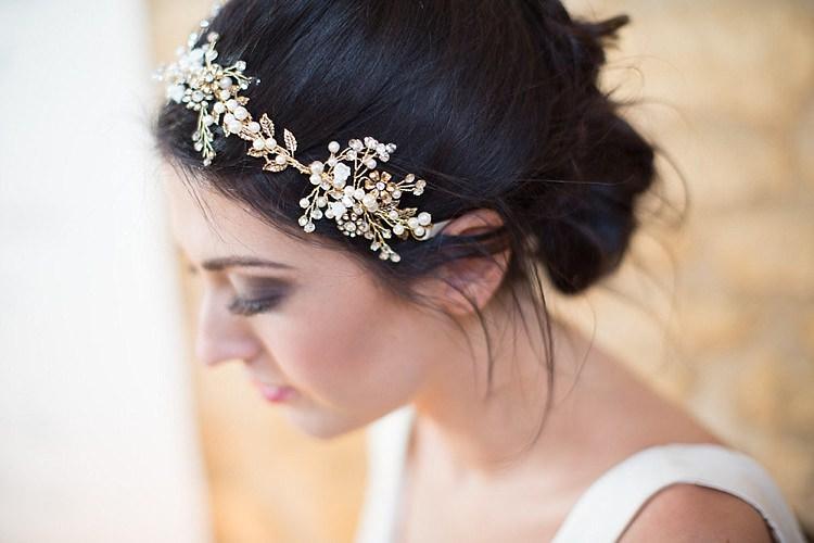 Hair Vine Band Bride Bridal Accessory Chic Secret Garden Wedding Ideas http://marysmithphotography.com/