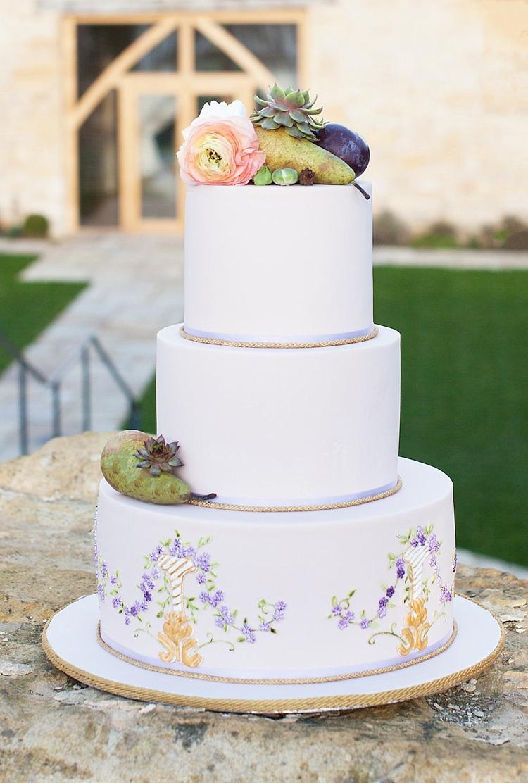 Cake Iced Floral Flowers Fruit Chic Secret Garden Wedding Ideas http://marysmithphotography.com/