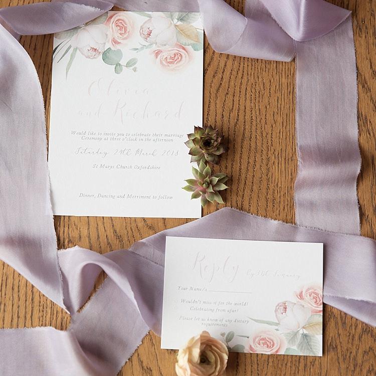 Floral Stationery Ribbon Fabric Pretty Chic Secret Garden Wedding Ideas http://marysmithphotography.com/