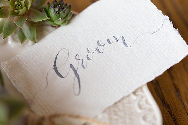 Calligraphy Place Name Card Chic Secret Garden Wedding Ideas http://marysmithphotography.com/