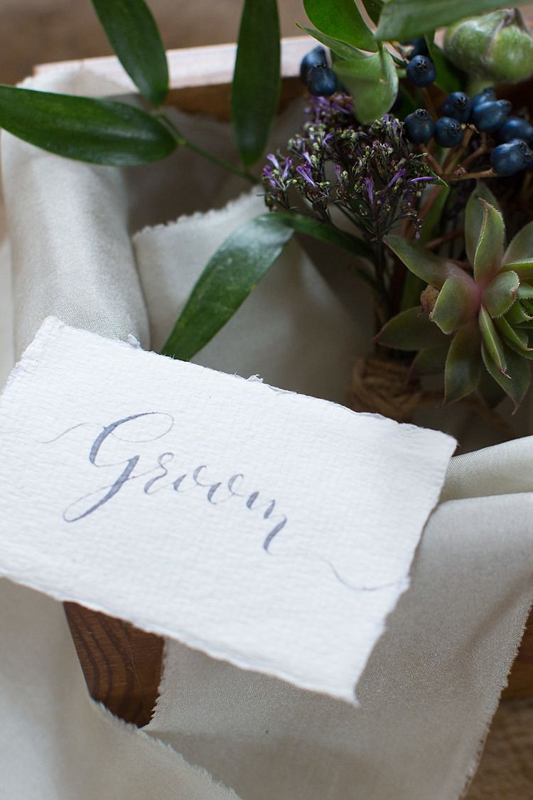 Succulent Buttonholes Chic Secret Garden Wedding Ideas http://marysmithphotography.com/