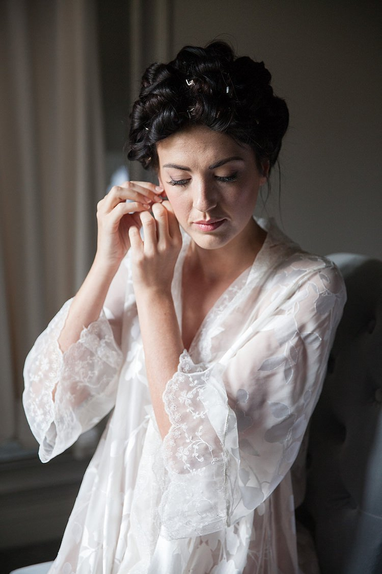 Floral Dressing Gown Bride Bridal Chic Secret Garden Wedding Ideas http://marysmithphotography.com/