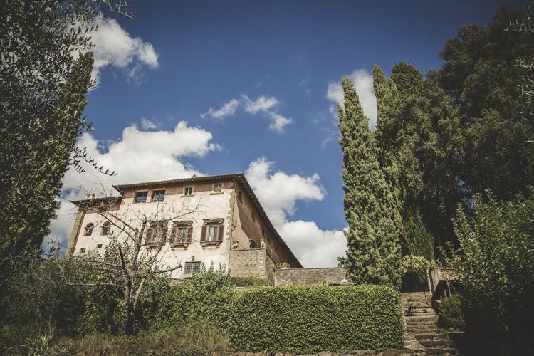 Ceremony Location Historic Villa Trees Hedges Romantic Intimate Tuscany Destination Wedding http://angelicabraccini.com/