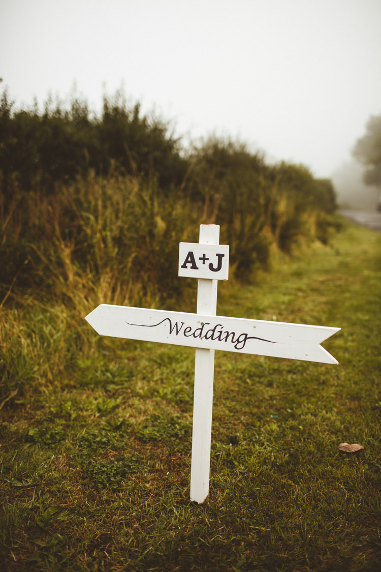 Sign Post Wooden Painted Powder Blue Country Rustic Charm Wedding https://photography34.co.uk/