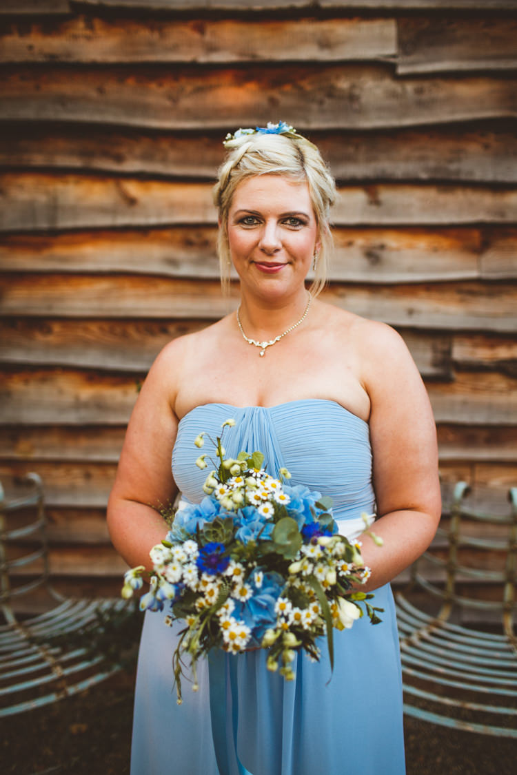 Bridesmaid Dress Flowers Bouquet Daisy Powder Blue Country Rustic Charm Wedding https://photography34.co.uk/