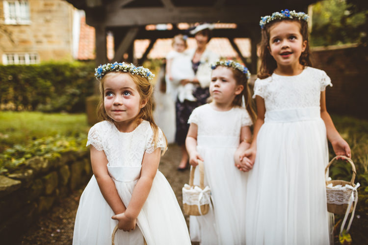 Flower Girls Crowns Baskets Petals Powder Blue Country Rustic Charm Wedding https://photography34.co.uk/