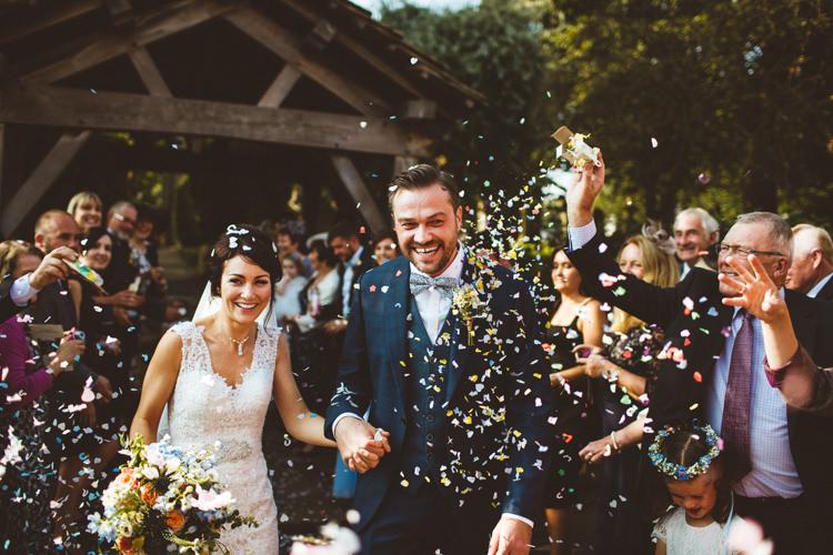 Confetti Throw Bride Groom Church Powder Blue Country Rustic Charm Wedding https://photography34.co.uk/