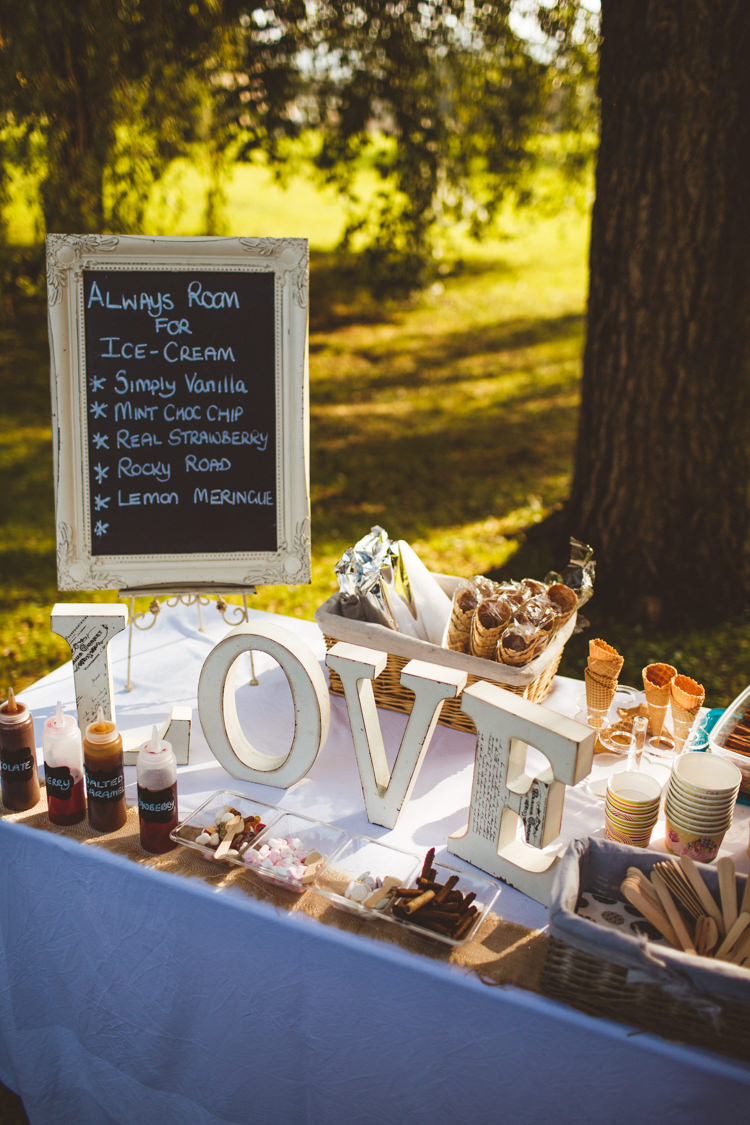Ice Cream Station Cart Food Powder Blue Country Rustic Charm Wedding https://photography34.co.uk/