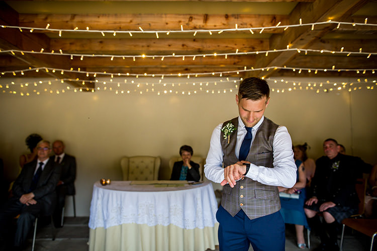 Waistcoat Chinos Groom Style Outfit Whimsical Greenery Nature Wedding http://lunaweddings.co.uk/