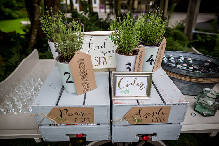Seating Plan Table Chart Potted Plants Whimsical Greenery Nature Wedding http://lunaweddings.co.uk/