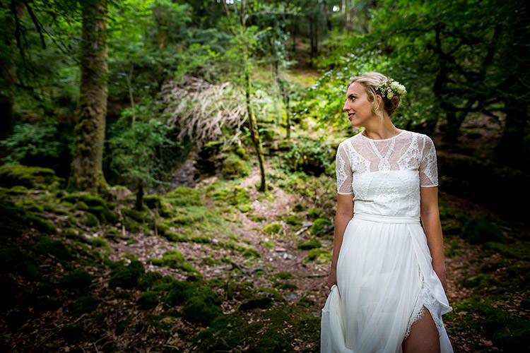 Valentina Grace Loves Lace Boho Dress Gown Bride Bridal Whimsical Greenery Nature Wedding http://lunaweddings.co.uk/