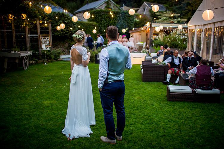 Outdoor Lanterns Whimsical Greenery Nature Wedding http://lunaweddings.co.uk/