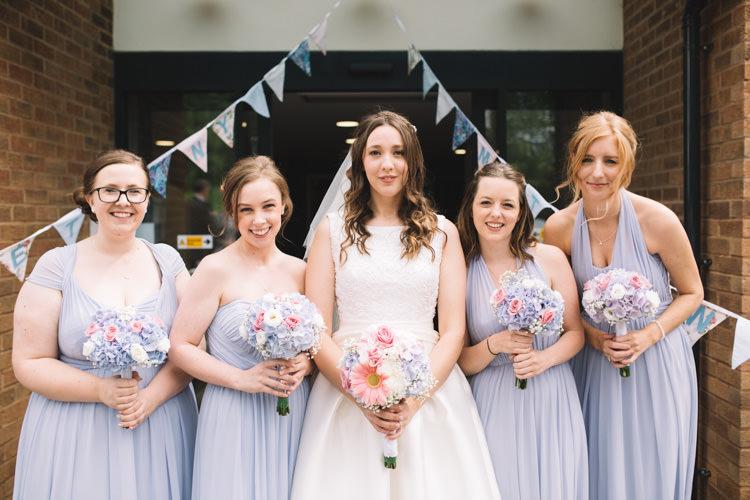 Pale Blue Bridesmaid Dresses Classic Summer Pastel Wedding http://www.catlaneweddings.com/