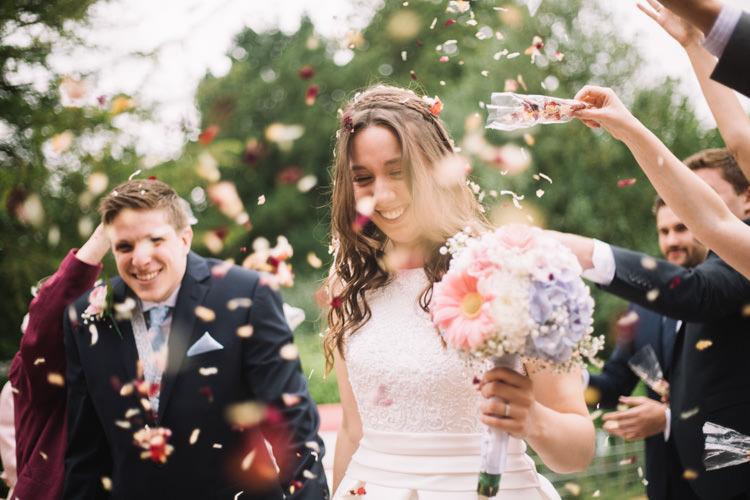 Confetti Throw Classic Summer Pastel Wedding http://www.catlaneweddings.com/