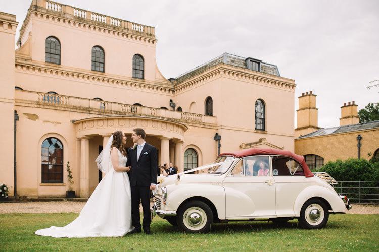 Morris Minor Car Transport Classic Summer Pastel Wedding http://www.catlaneweddings.com/