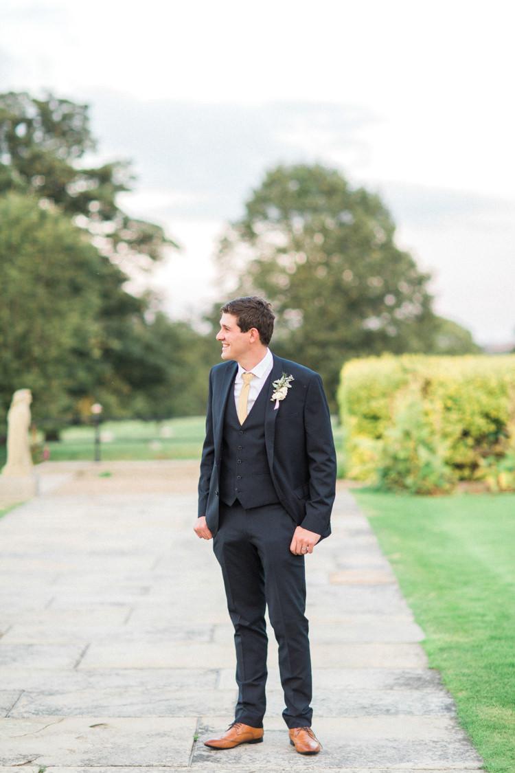 Next Suit Groom Navy Gold Sparkle Pink Glamour Wedding https://emilyhannah.com/