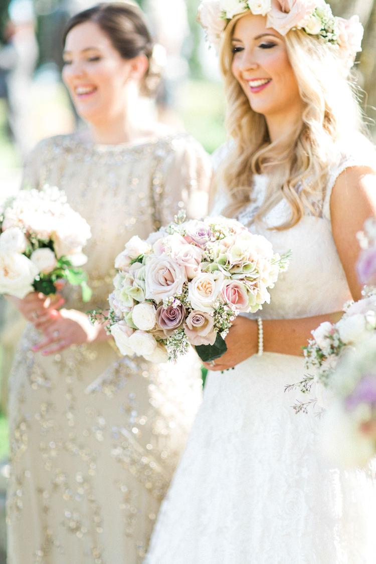 Bride Bridal Bouquet Flowers Rose Gold Sparkle Pink Glamour Wedding https://emilyhannah.com/