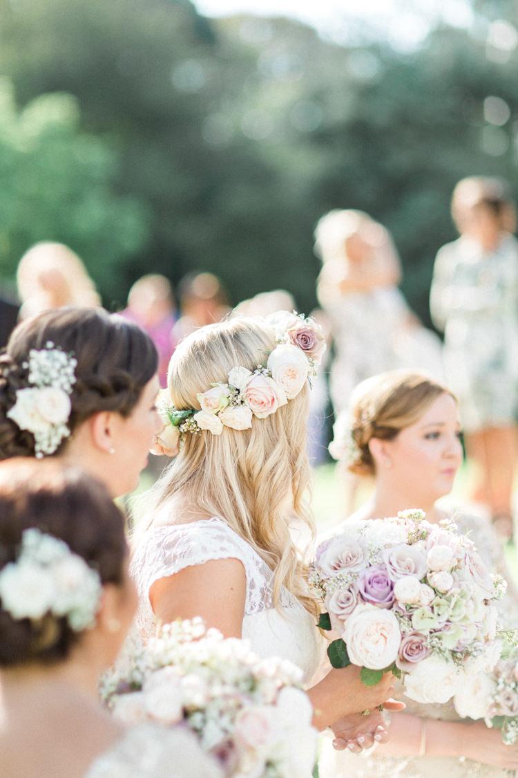 Flowers Bride Bridesmaids Gold Sparkle Pink Glamour Wedding https://emilyhannah.com/