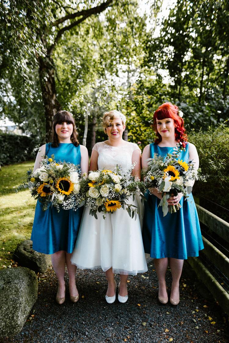 Short Blue Bridesmaid Dresses Alternative Lego Aviation Wedding http://www.honeyandthemoonphotography.co.uk/