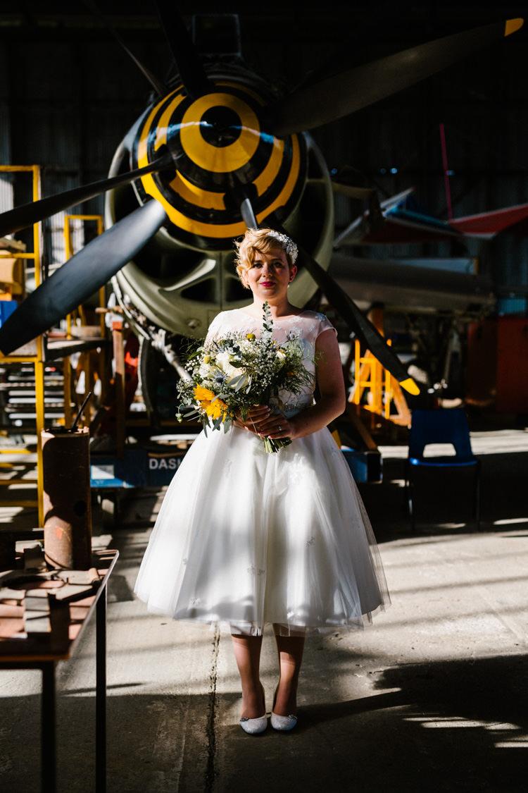 Short Dress Bride Bridal Tean Length LouLou Bridal Alternative Lego Aviation Wedding http://www.honeyandthemoonphotography.co.uk/