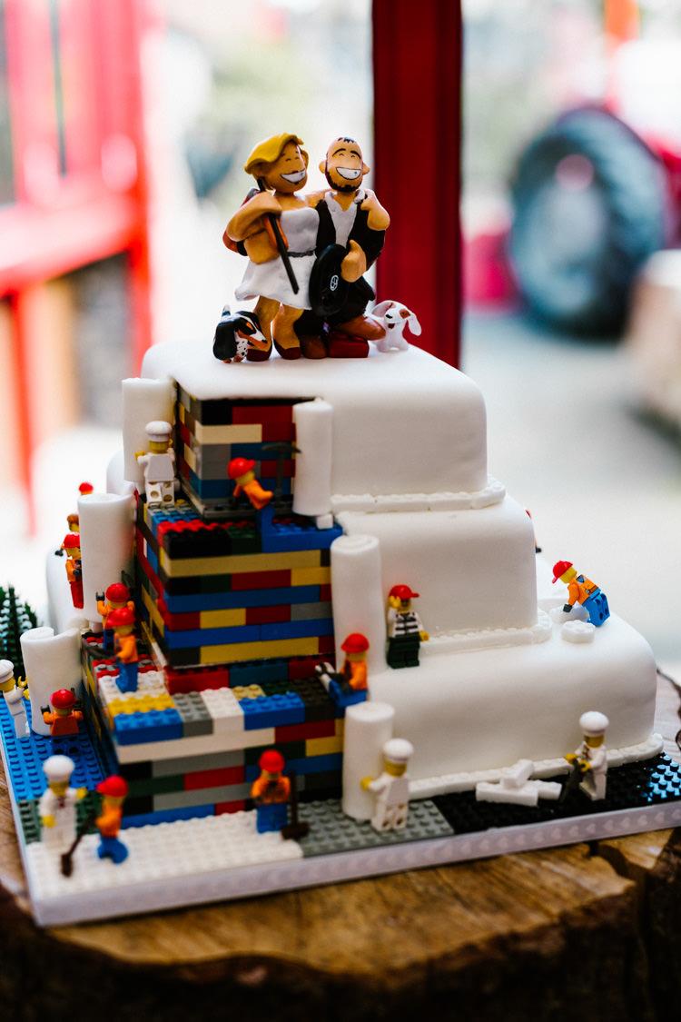 Cake Quirky Alternative Lego Aviation Wedding http://www.honeyandthemoonphotography.co.uk/