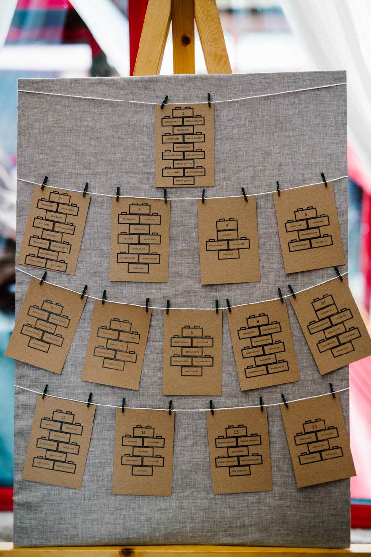 Bricks Seating Plan Table Chart Pegs Alternative Lego Aviation Wedding http://www.honeyandthemoonphotography.co.uk/