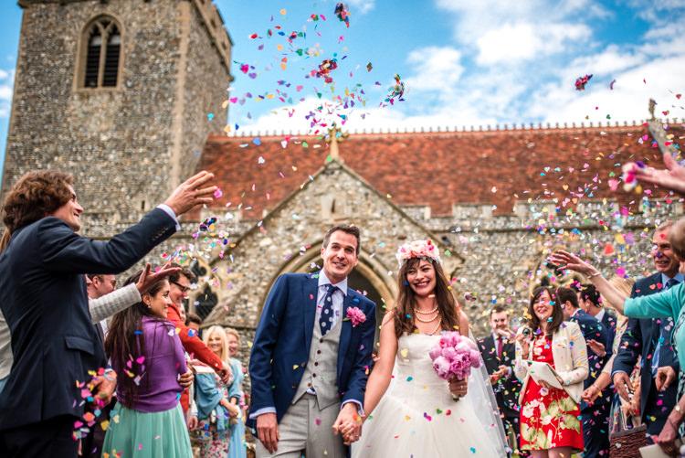 Confetti Throw Quirky English Garden Party Wedding http://www.michellewoodphotographer.com/