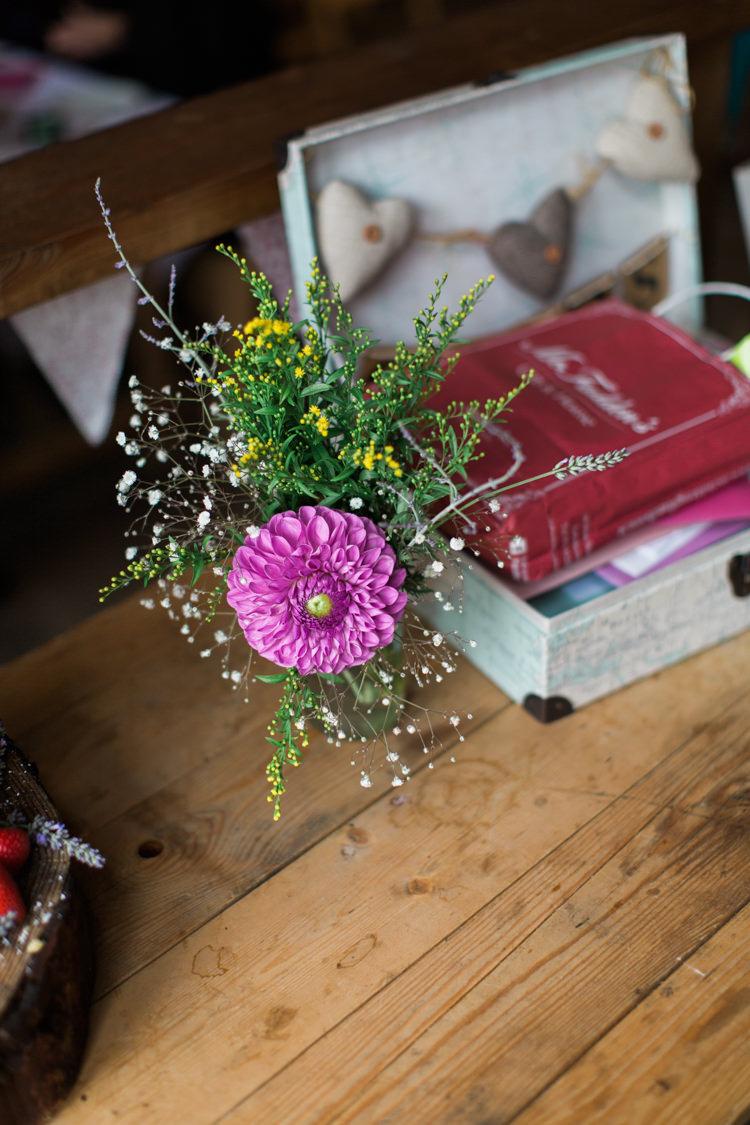 Jar Flowers Beautiful Woodland Glade Wedding https://emilyhannah.com/