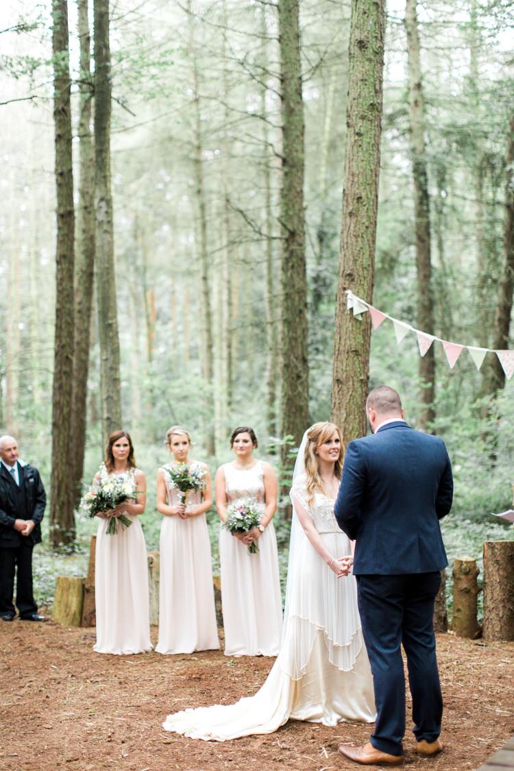 Camp Katur Outdoor Ceremony Yorkshire UK Beautiful Woodland Glade Wedding https://emilyhannah.com/
