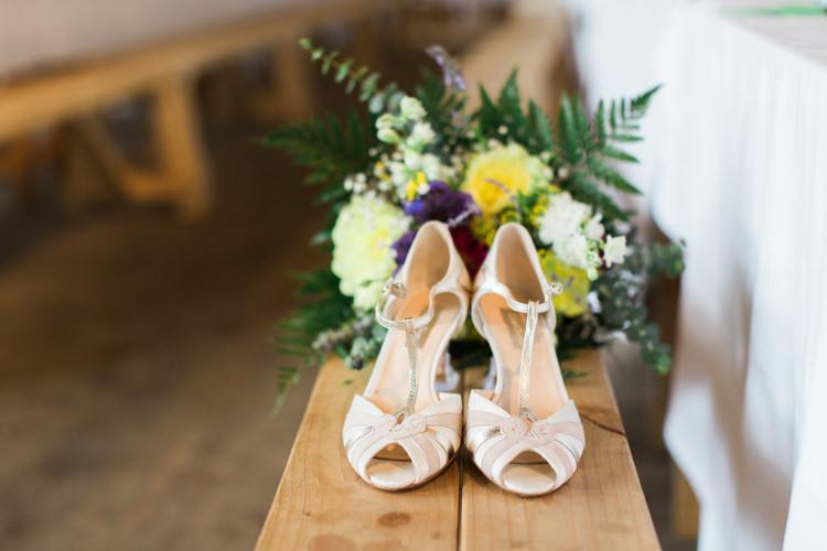 Rachel Simpson Shoes Beautiful Woodland Glade Wedding https://emilyhannah.com/