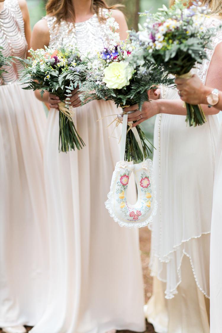 Bouquets Bride Bridal Bridesmaids Fern Dahlia Foliage Beautiful Woodland Glade Wedding https://emilyhannah.com/