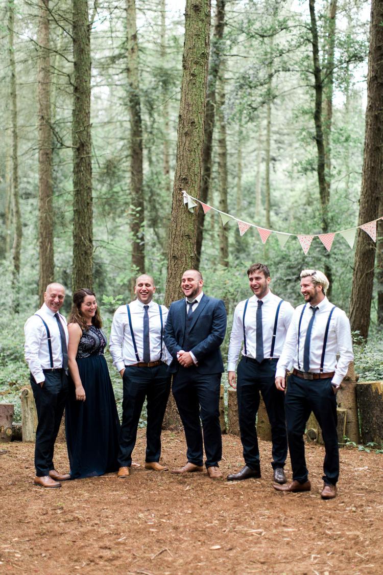 Groomsmen Braces Ties Beautiful Woodland Glade Wedding https://emilyhannah.com/