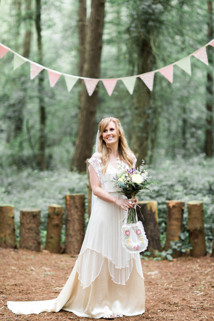 Lita Catherine Deane Dress Gown Bride Bridal Beautiful Woodland Glade Wedding https://emilyhannah.com/