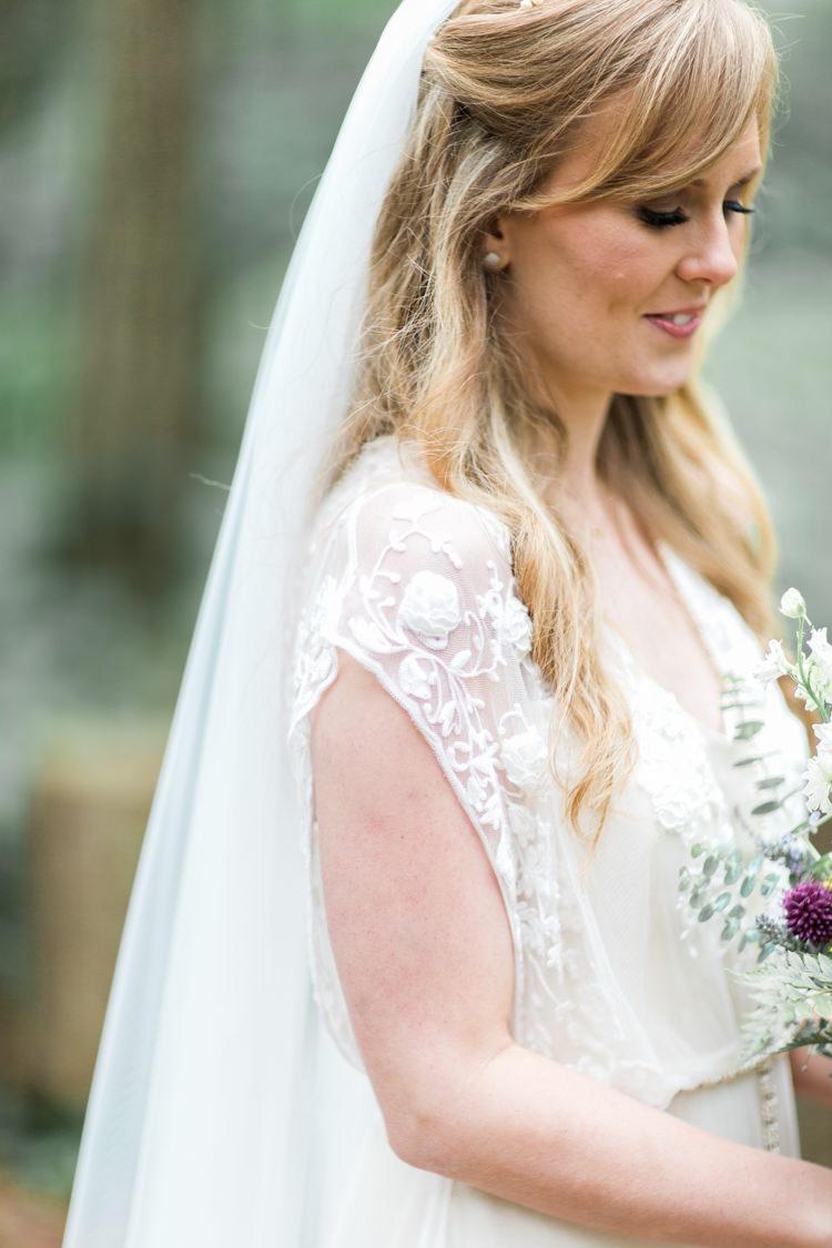 Veil Hair Bride Bridal Style Beautiful Woodland Glade Wedding https://emilyhannah.com/