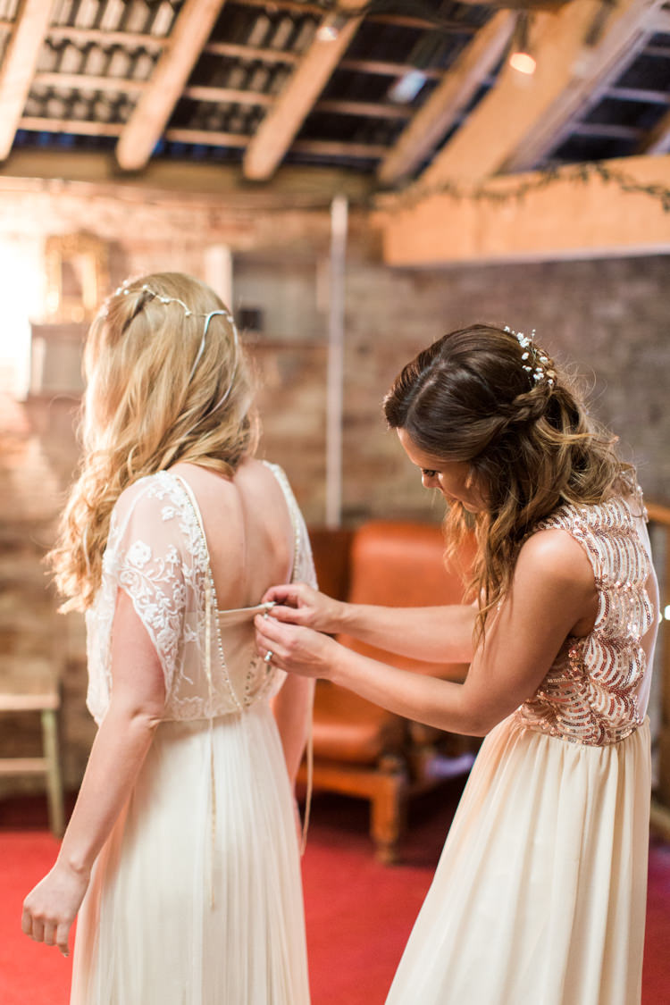 Catherine Deane Dress Bride Bridal Button Back Beautiful Woodland Glade Wedding https://emilyhannah.com/