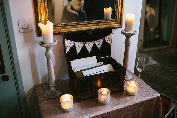 Card Box Bunting Enchanted Fairy Garden Wedding http://lunaweddings.co.uk/