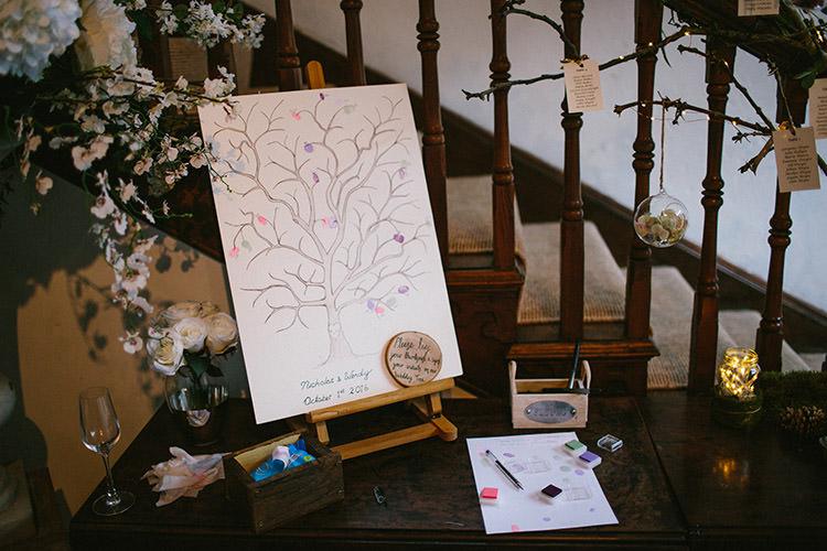Fingerprint Guest Book Tree Enchanted Fairy Garden Wedding http://lunaweddings.co.uk/