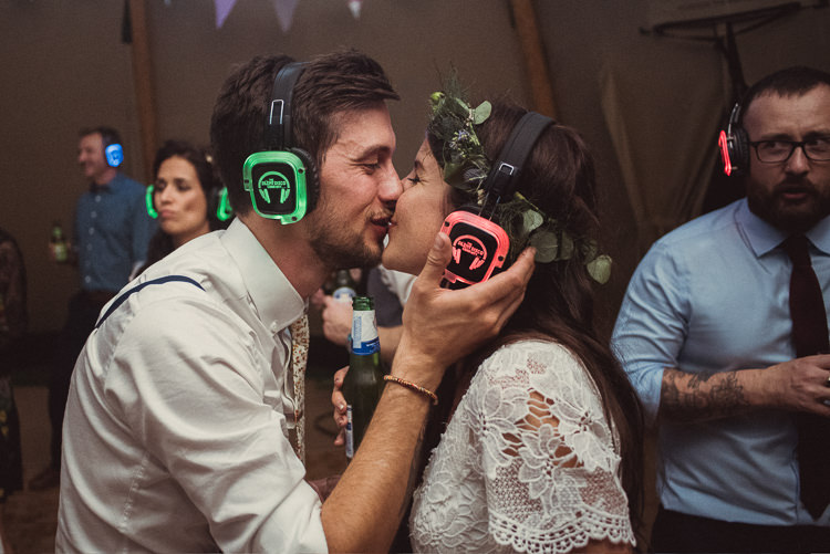 Silent Disco UK Bohemian Festival Tipi Wedding http://esmemai.com/