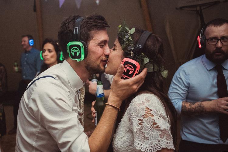 Silent Disco UK Bohemian Festival Tipi Wedding http://esmemai.com/