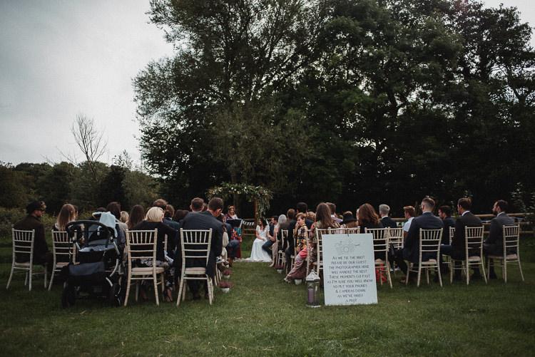Outdoor Ceremony The Hideaway North Yorkshire Bohemian Festival Tipi Wedding http://esmemai.com/