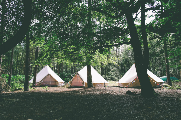 Glamping Tents Tipi Village Bell Rustic Woodland Birds Outdoorsy Wedding http://www.emmaboileau.co.uk/
