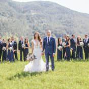 Beautiful Pink & Blue Tuscany Villa Wedding