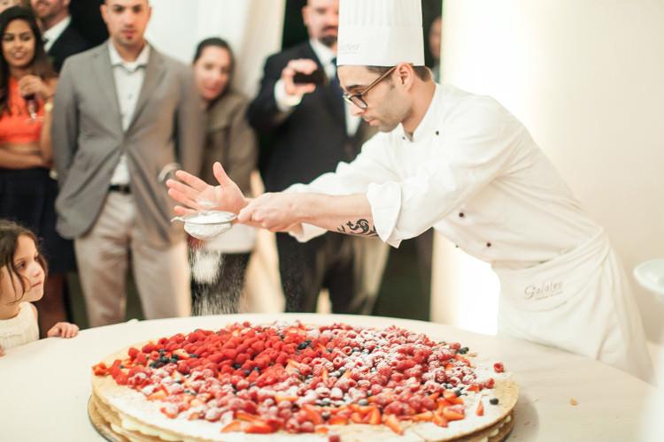 Reception Wedding Cake Creation Chef Guests Beautiful Pink Blue Tuscany Villa Wedding http://www.chloemurdochphotography.com/