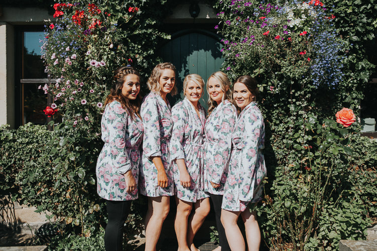 Bridesmaids Dressing Gowns Beautiful Flowery Country Marquee Wedding http://www.maddiefarrisphotography.co.uk/