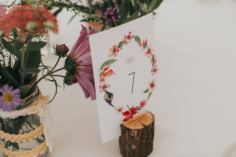 Floral Stationery Pretty Table Number Beautiful Flowery Country Marquee Wedding http://www.maddiefarrisphotography.co.uk/