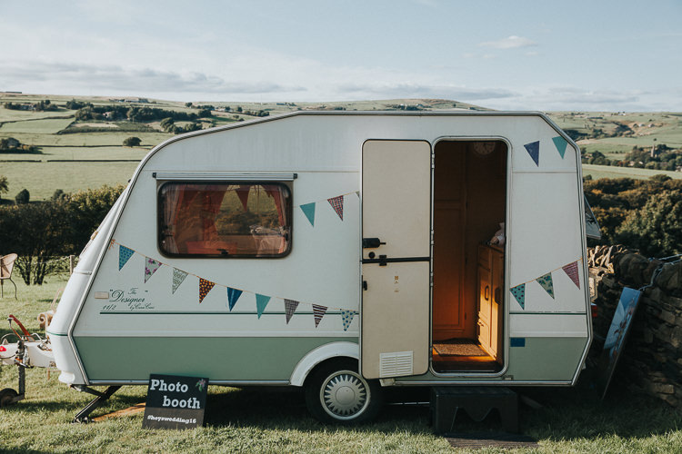 Vintage Caraven Photo Booth Beautiful Flowery Country Marquee Wedding http://www.maddiefarrisphotography.co.uk/