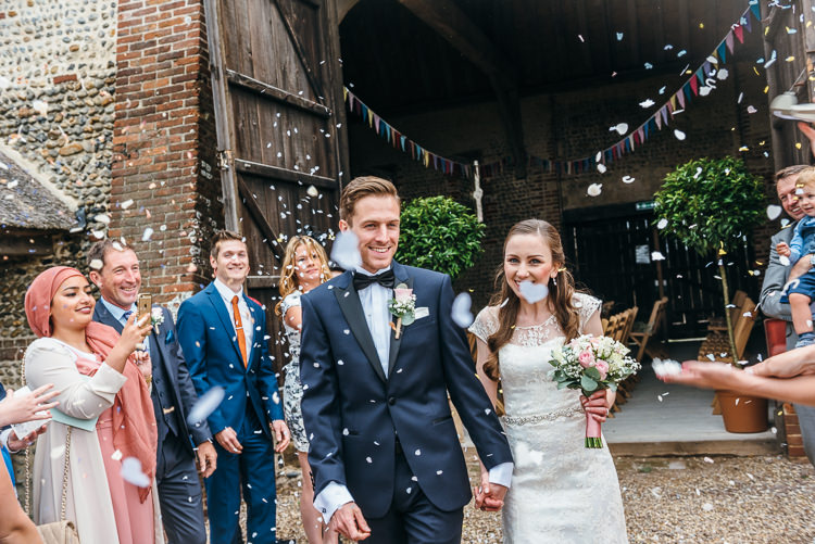 Confetti Throw Gorgeous Home Made Pink Gold Barn Wedding http://www.bethmoseleyphotography.co.uk/